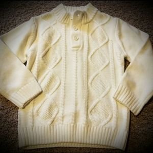 NEW Boys S 5 6 Gymboree Ivory Sweater